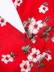 Summer Holiday Red V Neck Skater Dress