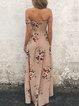 Run To It Off Shoulder Shirred Slit Dress