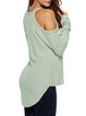 Casual Days Light Green Cold Shoulder Sweater