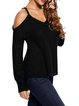 Casual Days Black Cold Shoulder Sweater