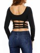 Firtatious Black Sexy Caged Crop Top
