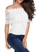 Show Off Collarbone White Off Shoulder Top
