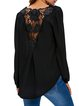 Eyes On Me Black Surplice Neck Blouse