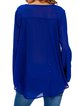Dream Walking Blue V Neck Simple Blouse