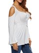 Sensuously Shaped Lace Up Cold Shoulder Top