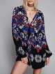 Air of Romance Tied Neck Floral Dress