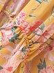 Natural Conclusion Yellow Chiffon Boho Kimono