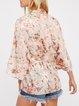 Natural Conclusion Pink Floral Boho Kimono