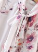 Like Minded Pink Floral Stand Collar Blouse
