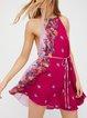 New Friends Chiffon Floral Sleeveless Dress with Belt