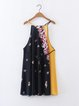 New Friends Yellow Floral Chiffon Dress with Belt