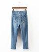 Time Changes Blue Street Denim Solid Jeans