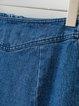 Denim Days Blue Zipper Embroidered Skirt