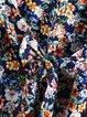 Best Choice Printed Frill Sleeve Dress