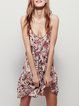 Nature's Bounty Apricot Floral Spaghetti Dress