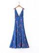 Infatuation Blue Printed Slit Boho Dress