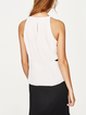 Money Maker White Sleeveless Cutout Tank