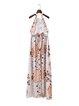 Moment of Glory White Tribal Pierced Halter Dress