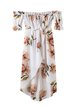My Paradise White Floral High Low Dress