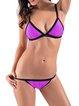 Cool Water Color-block Wireless Bralette Bikini