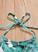Eternal Green Straped Palm Printed Bikini