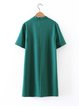 Project Social Green Choker Neck H-line Dress