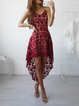 Women Summer Dress High Low Going out Casual Lace Dress