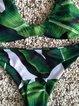 Palm Fun Green Wireless Straped Padded Bikini