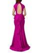 Purple Keyhole Ruffled Mermaid Evening Dress