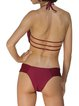 Burgundy Bralette Caged Wireless Bikini
