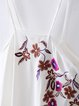 White Girly A-line Embroidered Spaghetti Dress