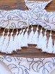Printed Halter Polyester Fringes Padded Bikini