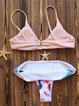 Pink Floral Bralette Straped Bikini