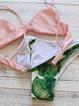 Green Palm Printed Padded Straped Bikini