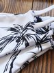 White-black Padded Coconut Tree Wireless Bikini