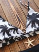 Black-white Coconut Tree Wireless Bikini