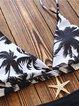 Black-white Coconut Tree Wireless Bikini