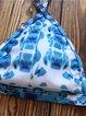 Blue Ombre Printed Straped Wireless Padded Bikini