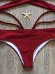 Burgundy Halter Solid Padded Wrap Bikini
