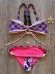 Fuchsia Bow Wireless Straped Bikini