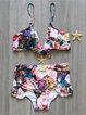 Multicolor Ruffles Floral Padded Bikini