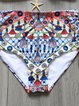 Multicolor Underwire Straped High Rise Printed Bikini