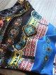 Multicolor Printed Tribal Halter Wrap Bikini