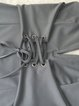 Gray Spaghetti Solid Zipper Sexy Dress