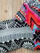 Multicolor Spandex Tribal Printed Halter Bikini