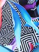Multicolor Caged Printed Scoop Neckline Padded Bikini