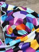 Multicolor Geometric Nylon Wireless Printed Tankini