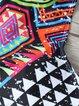 Multicolor Racerback Polyester Tribal Bikini