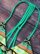 Green Tribal Halter Printed Racerback Bikini