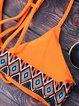Orange Racerback Geometric Wireless Printed Bikini